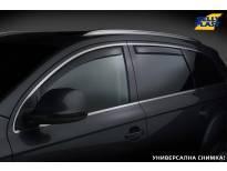 Комплект ветробрани Gelly Plast за Fiat Fullback, Mitsubishi L200 след 2015 година с 4 врати, черни, 4 броя