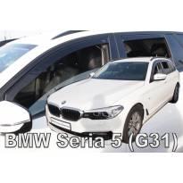 Комплект ветробрани Heko за BMW серия 5 G31 комби след 2017 година, тъмно опушени, 4 броя