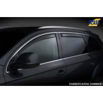 Комплект ветробрани Gelly Plast за Nissan Navara 1998-2005 с 4 врати, черни, 4 броя